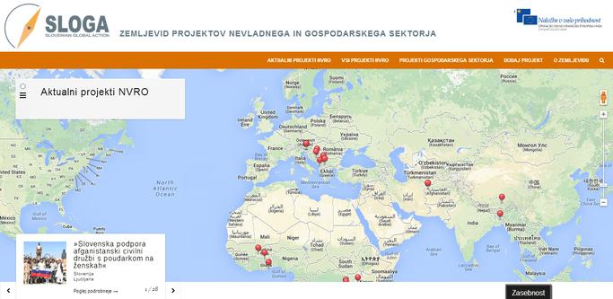 Zemljevid projektov nevladnega in gospodarskega sektorja