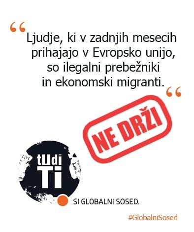 Mit o mednarodnem razvojnem sodelovanju št. 10 – begunci, ne ekonomski migranti
