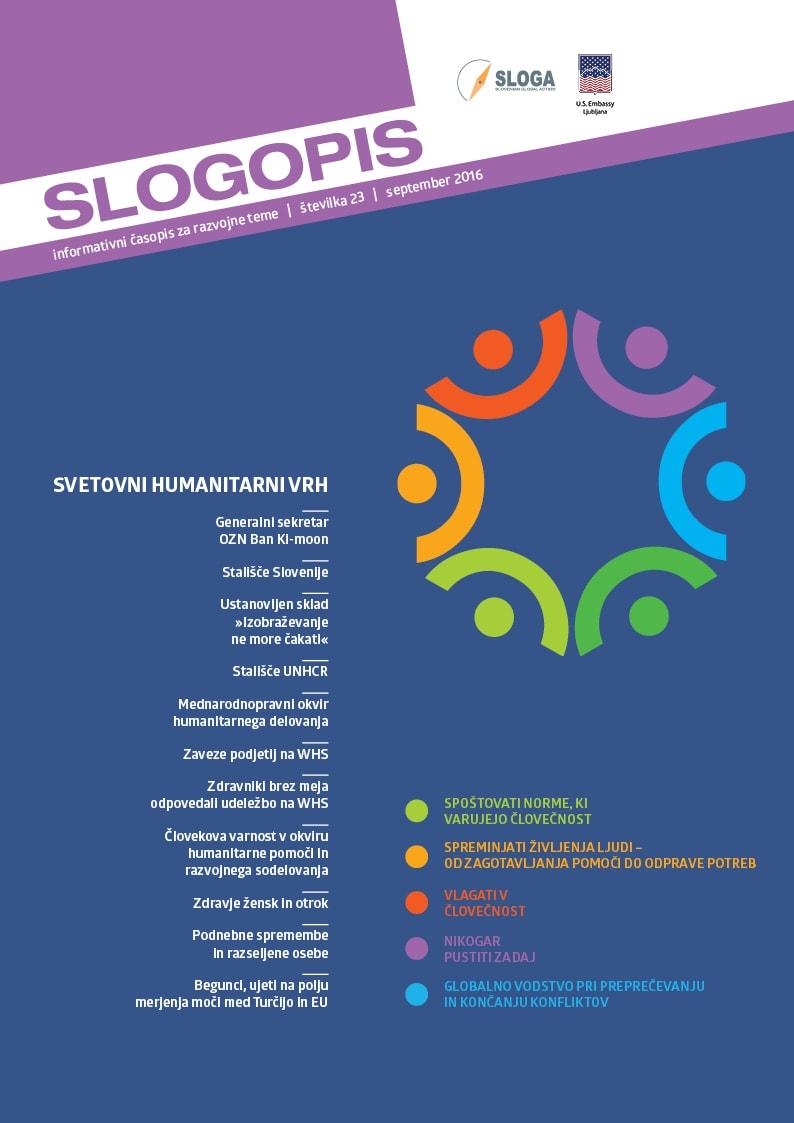 23. številka Slogopisa o Svetovnem humanitarnem vrhu in humanitarnih izzivih