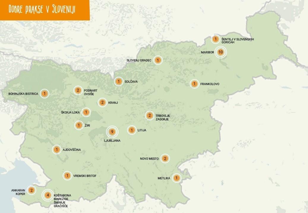 Skupnostne dobre prakse na skupnem zemljevidu Slovenije