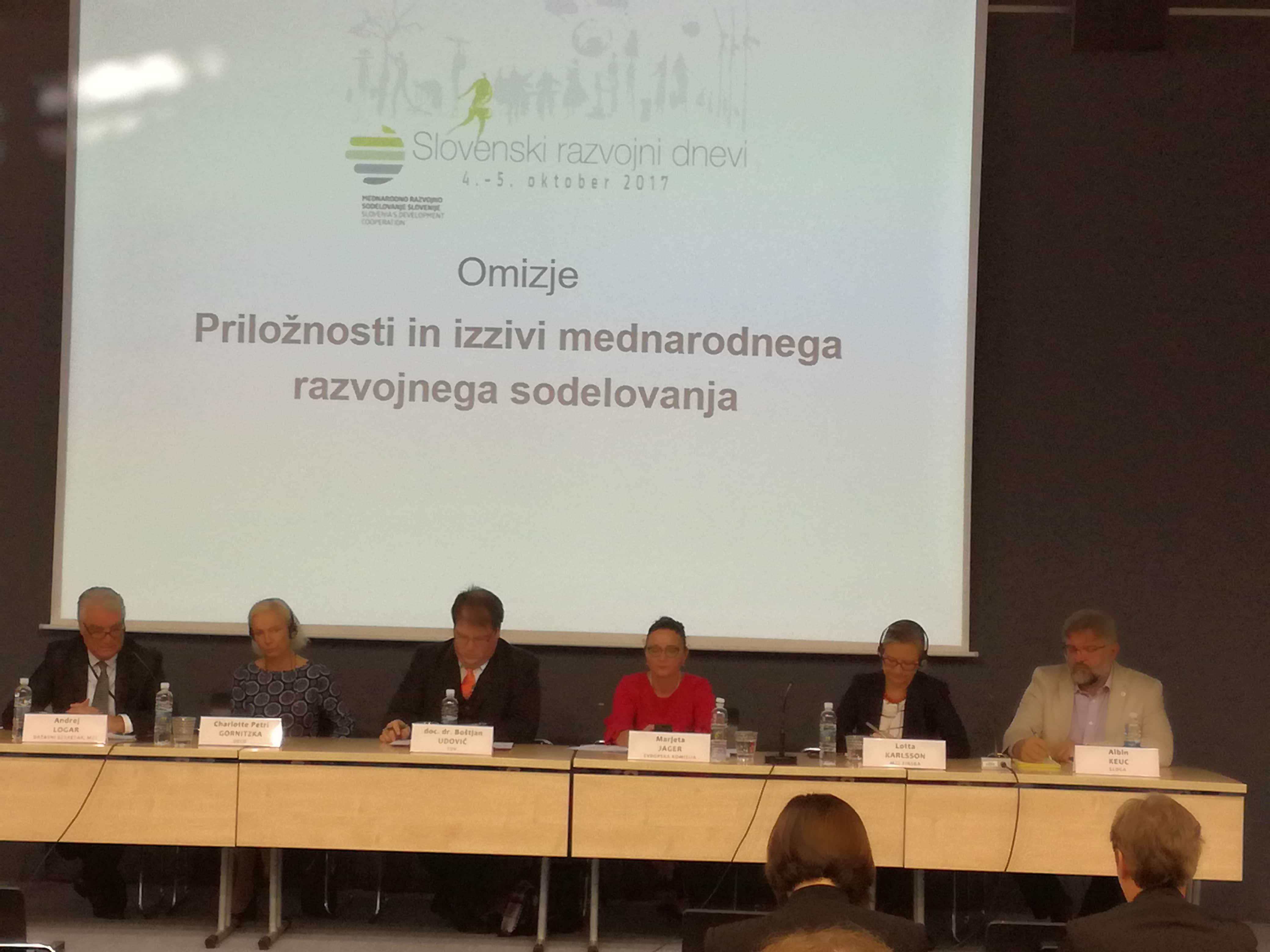 SLOGA aktivna tudi na letošnjih Slovenskih razvojnih dnevih