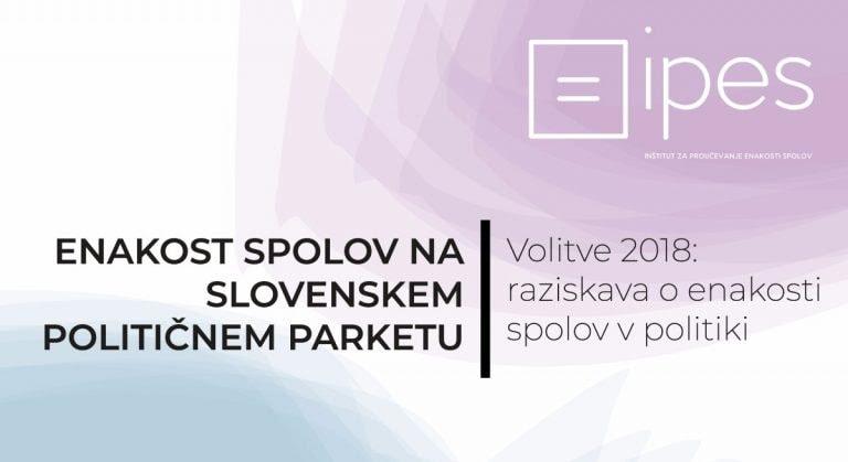 Publikacija Enakost spolov na slovenskem političnem parketu