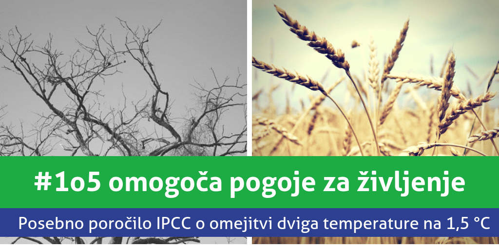 Posebno poročilo IPCC: Globalno segrevanje moramo omejiti pod 1,5 °C