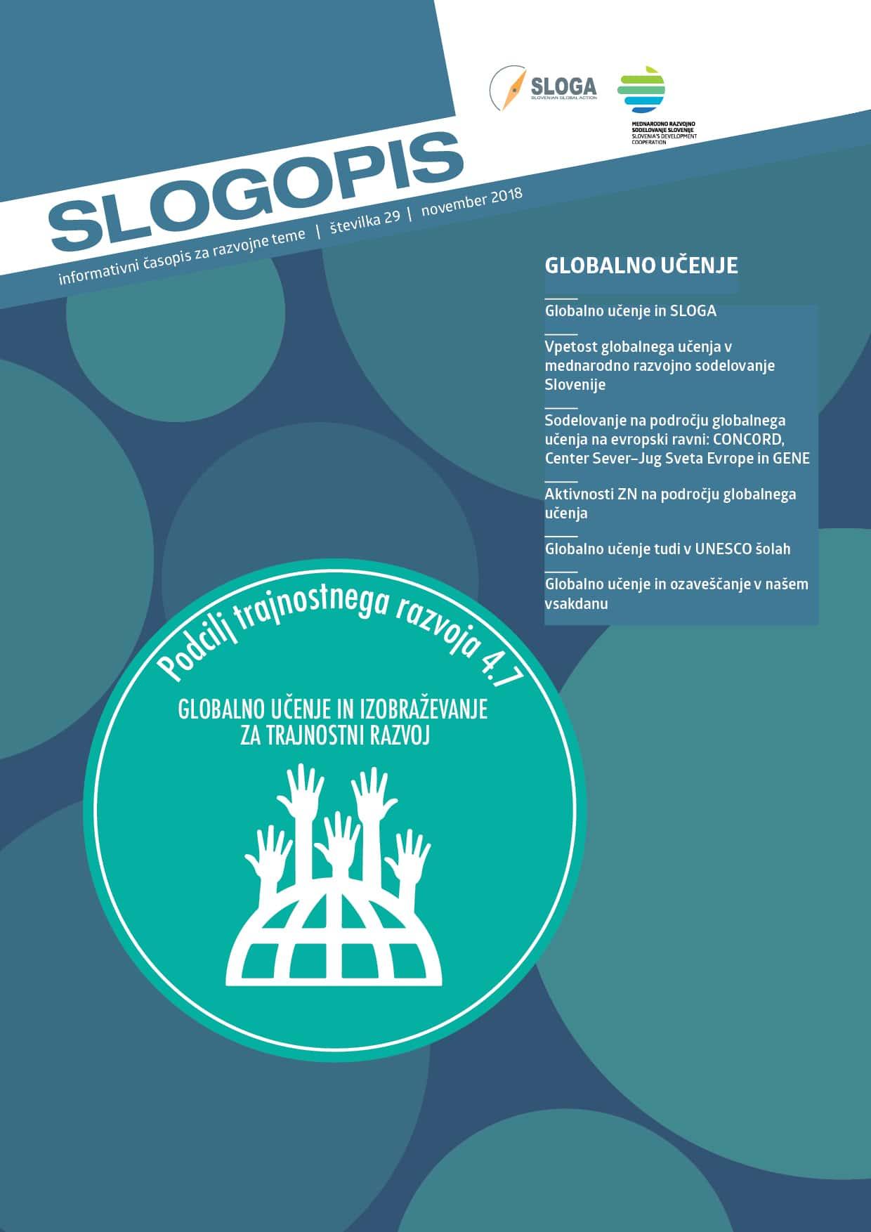 V okviru projekta Trajnostno. Lokalno. Globalno. izdan Slogopis o globalnem učenju