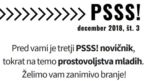 Novičnik projekta PSSS! o prostovoljstvu mladih