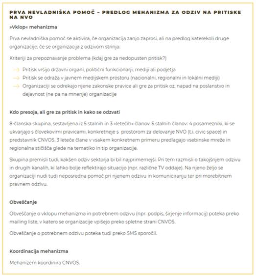 CNVOS v e-posvetovanje dal predlog mehanizma za odziv na pritiske na NVO