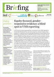 Spremljanje enakosti in vidika spola: slepa pega prostovoljnih nacionalnih pregledov