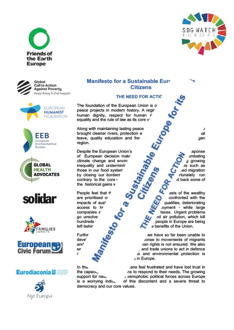 EP volitve: Menifest »Drugačna Evropa je možna«