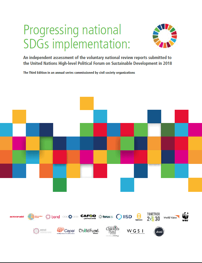 """Objavljeno skupno poročilo organizacij civilne družbe """"Progressing National SDG Implementation """""""