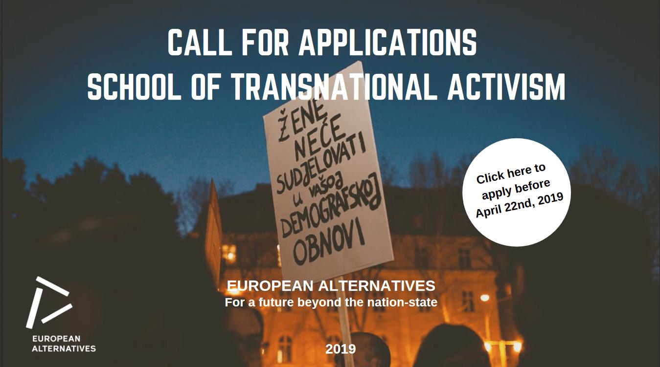 European Alternatives vabi v šolo transnacionalnega aktivizma