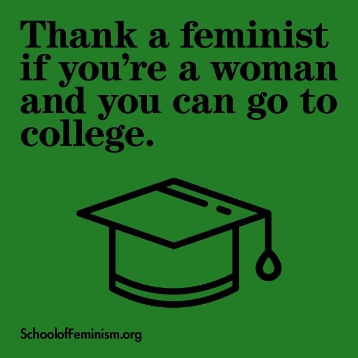 Zahvalite se feministkam, če …