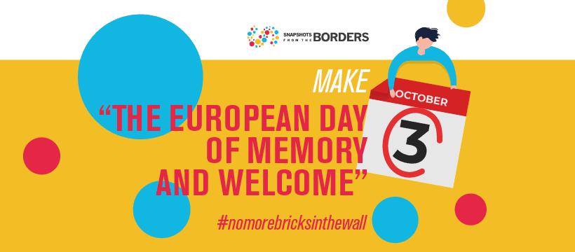 3. oktober naj bo Evropski dan spomina in dobrodošlice