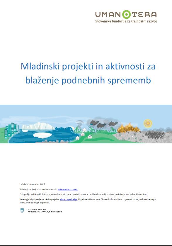 Izšel katalog mladinskih podnebnih projektov