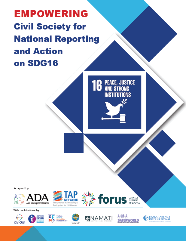 Poročilo »Empowering Civil Society for Monitoring and Action on SDG16«