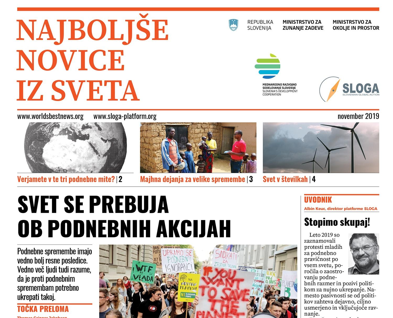Podnebne spremembe tema nove izdaje Najboljših novic iz sveta