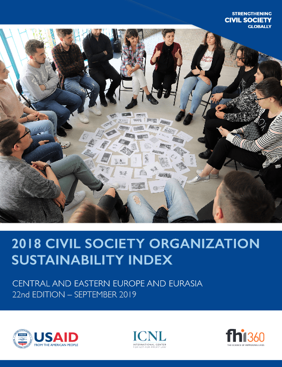 Indeks trajnosti civilnodružbenih organizacij (CSOSI) za Srednjo in Vzhodno Evropo ter Evrazijo