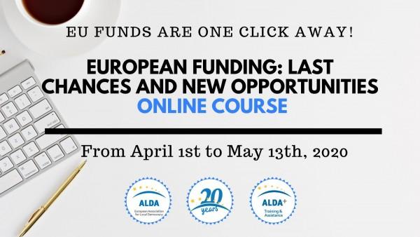 Spletni tečaj EVROPSKO FINANCIRANJE: zadnje možnosti in nove priložnosti