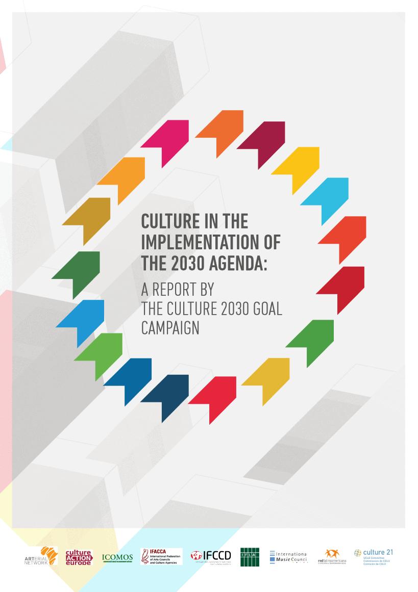 Poročilo o pomenu kulture pri uresničevanju Agende 2030