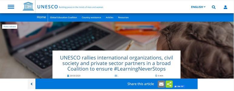 UNESCO ustanovil Globalno koalicijo za izobraževanje