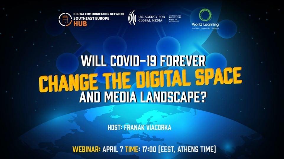 """Posnetek webinarja """"Bo Covid-19 za vedno spremenil digitalni svet in medijsko pokrajino?"""""""
