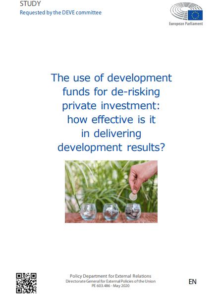 Študija Odbora za razvoj (DEVE) o učinkovitosti so-financiranja zasebnega kapitala v državah v razvoju