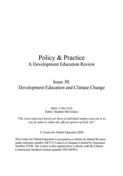 30. edicija strokovne revije Policy & Practice: A Development Education Review