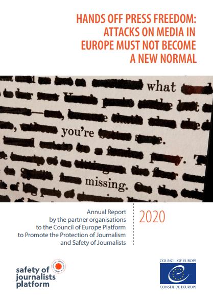 Platforma Sveta Evrope za zaščito novinarjev objavila letno poročilo o svobodi medijev v Evropi