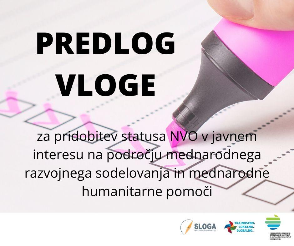 SLOGA pripravila predlog vloge za pridobitev statusa NVO v javnem interesu