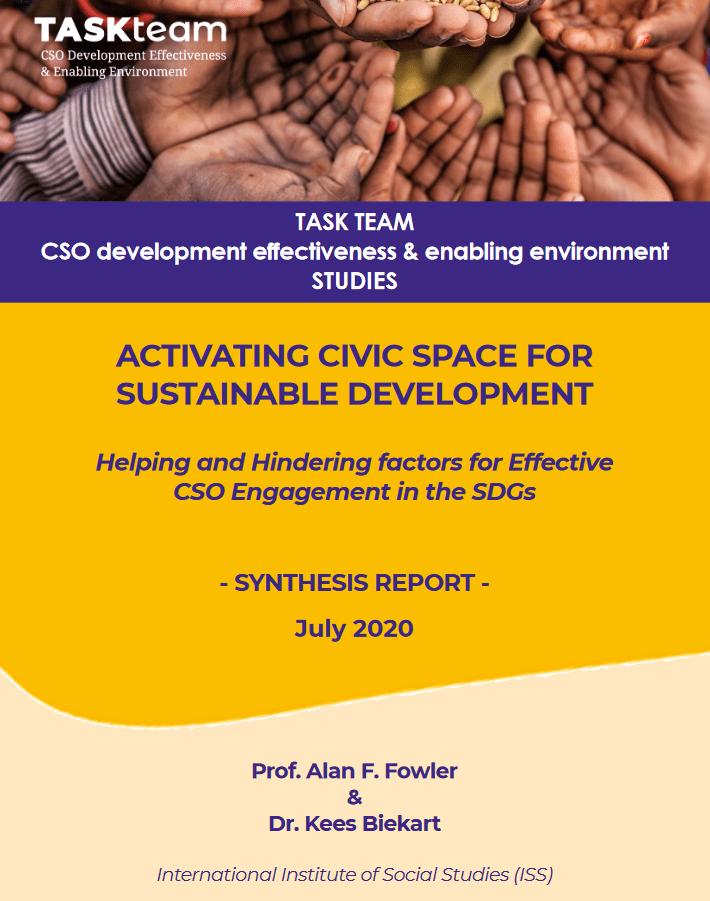Študija o sodelovanju civilnodružbenih organizacijah pri uresničevanju ciljev trajnostnega razvoja