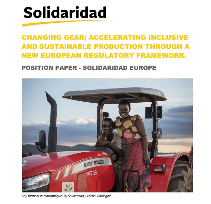 Stališče organizacije Solidaridad o pospeševanju vključujoče in trajnostne proizvodnje z novim evropskim okvirom