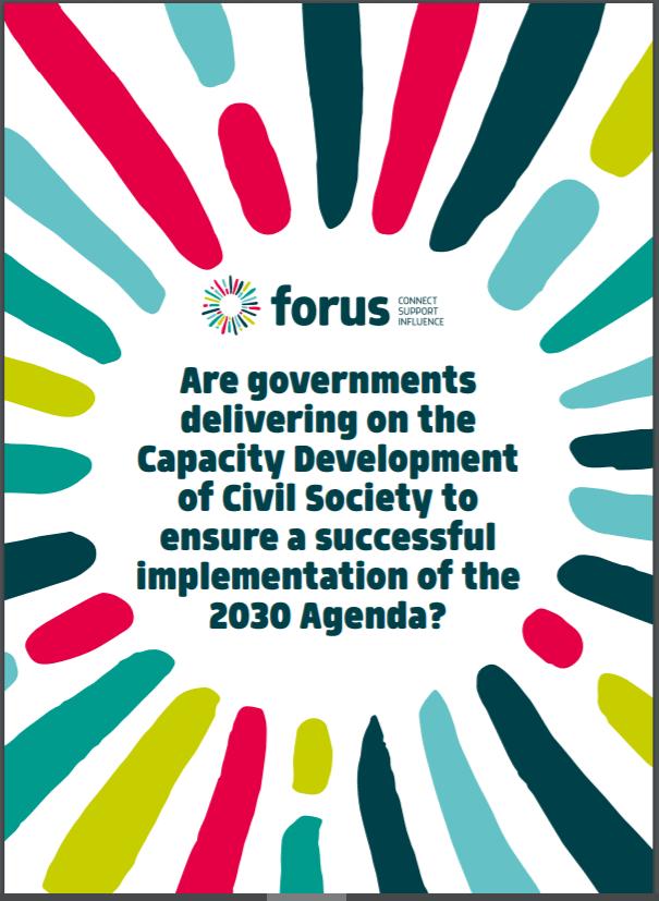Ali so vlade uspešne pri razvoju zmogljivosti civilne družbe za izvajanje Agende  2030?