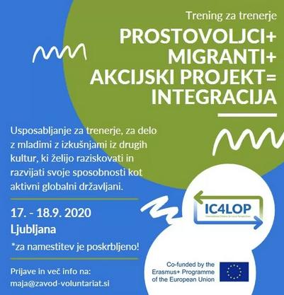 Prostovoljci + migranti + akcijski projekti = integracija