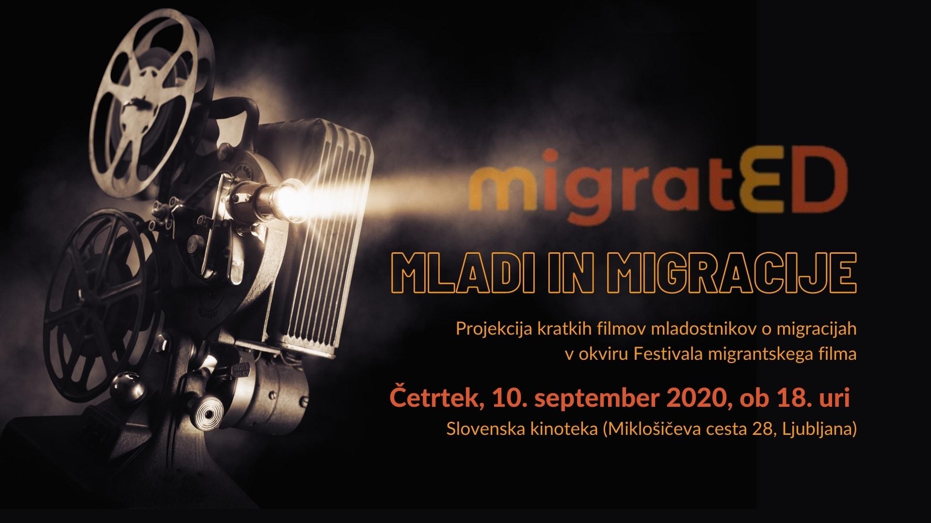 »MLADI IN MIGRACIJE« – Projekcija kratkih filmov mladostnikov o migracijah (FMF)