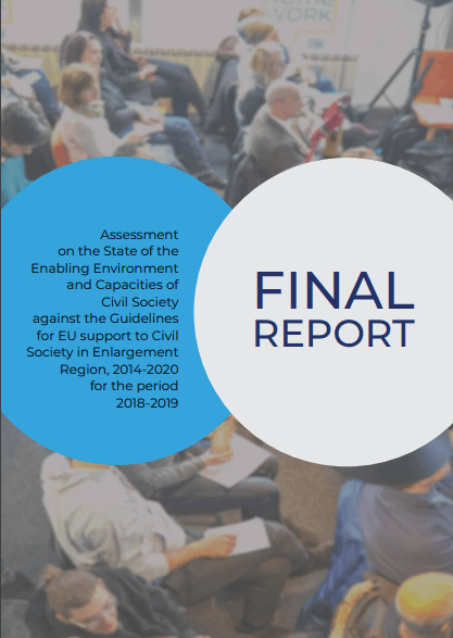 Prva obsežna slika zmogljivosti in razmer civilne družbe na Zahodnem Balkanu in v Turčiji za obdobje 2018-2019