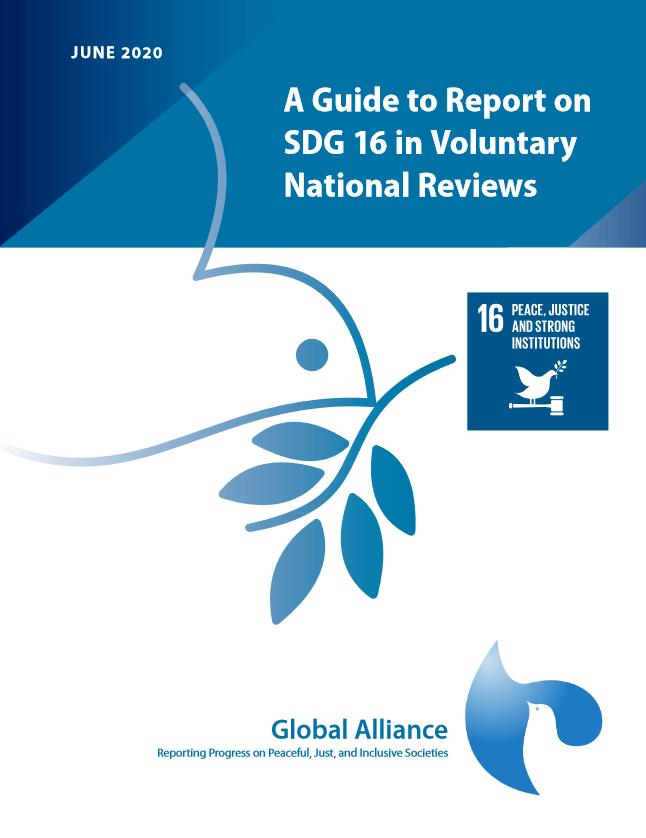 Global Alliance: Priročnik za poročanje o 16. cilju trajnostnega razvoja v prostovoljnih nacionalnih pregledih