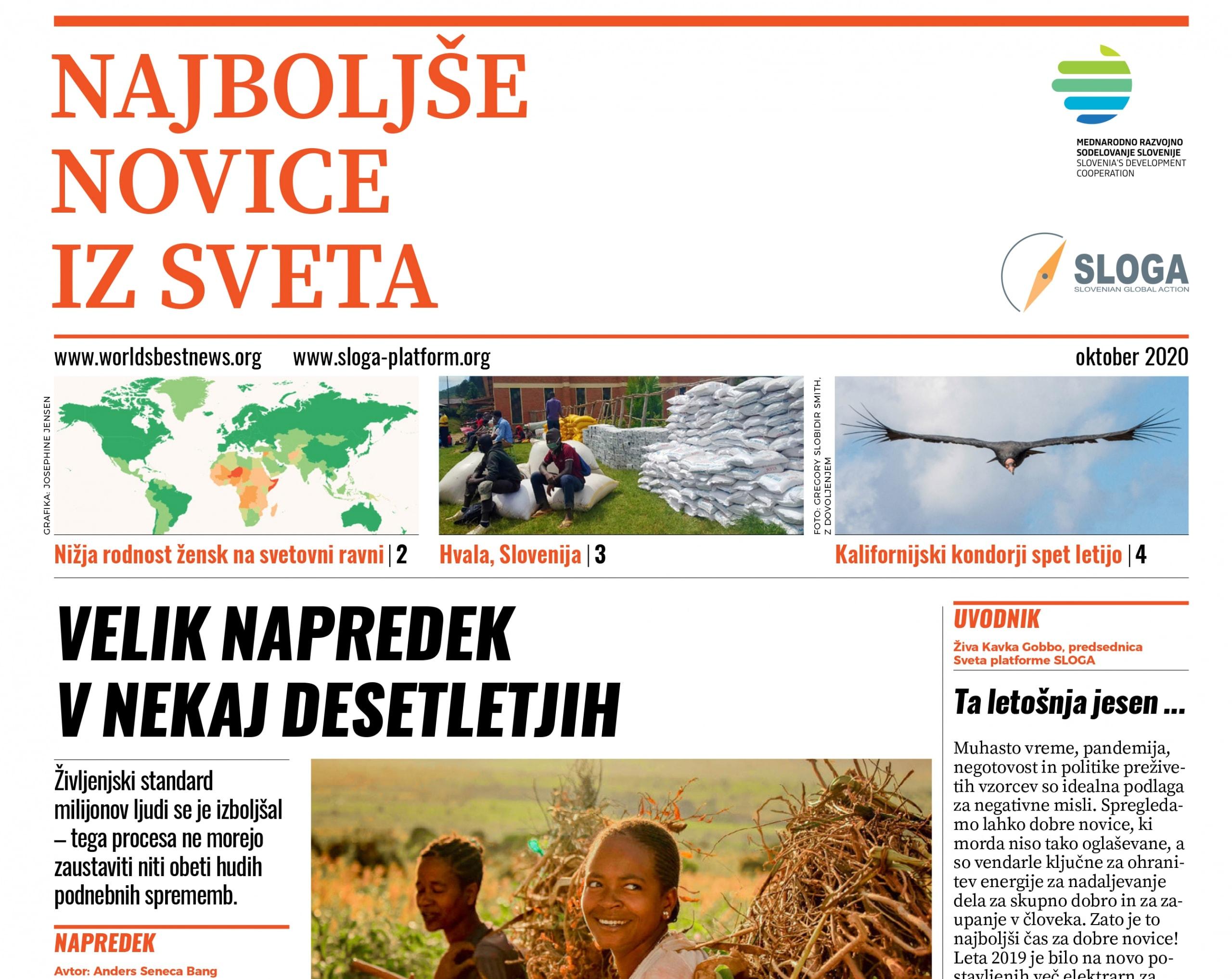 SPOROČILO ZA JAVNOST: Nova izdaja Najboljših novic iz sveta v slovenščini