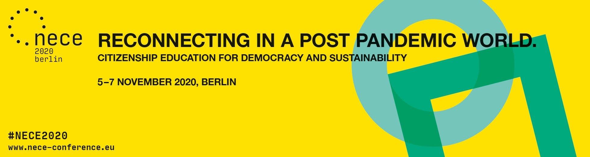 """NECE konferenca """"Ponovno povezovanje v post-pandemičnem svetu. Državljanska vzgoja za demokracijo in trajnost"""""""