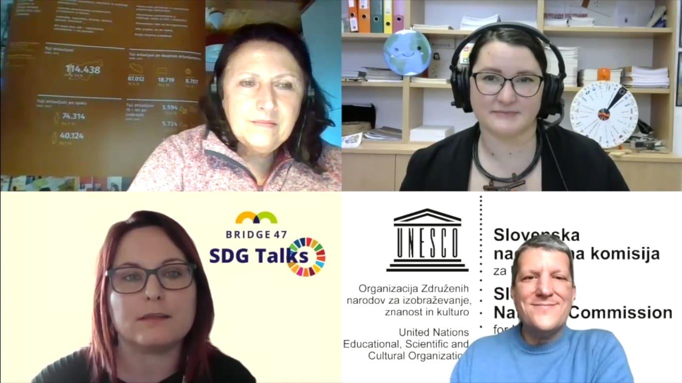 SDG Talks: Gašper Hrastelj, Urad za UNESCO in Zvonka Pangerc Pahernik, Andragoški center Slovenije
