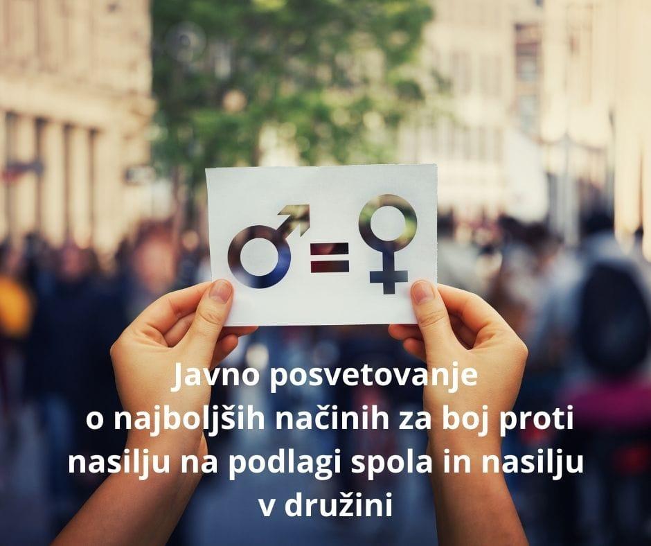 Javno posvetovanje o boju proti nasilju na podlagi spola in nasilju v družini