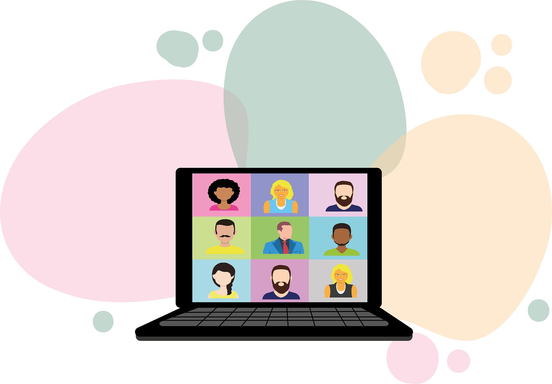 Videokonferenca. Vir: Pixabay