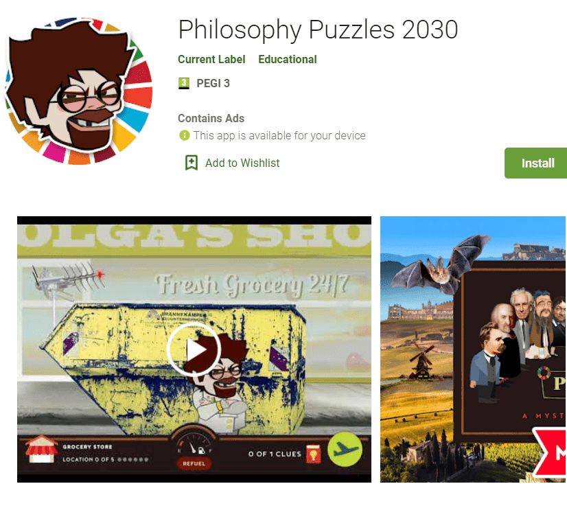 Zavod Povod izdal videoigro Filozofske uganke 2030