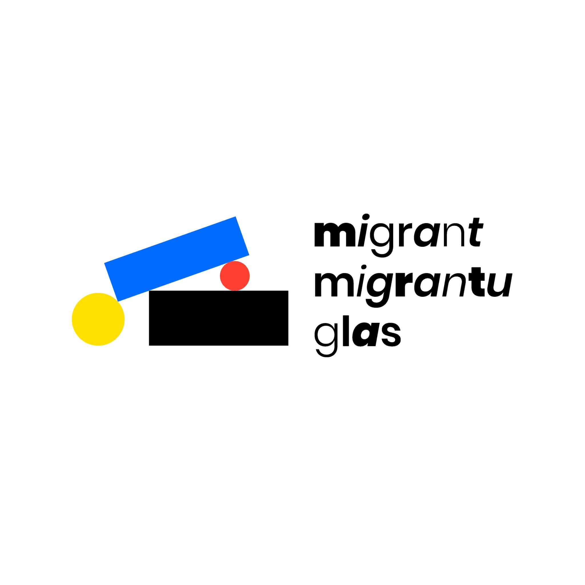 Migrant migrantu glas. Vir: Radio Študent