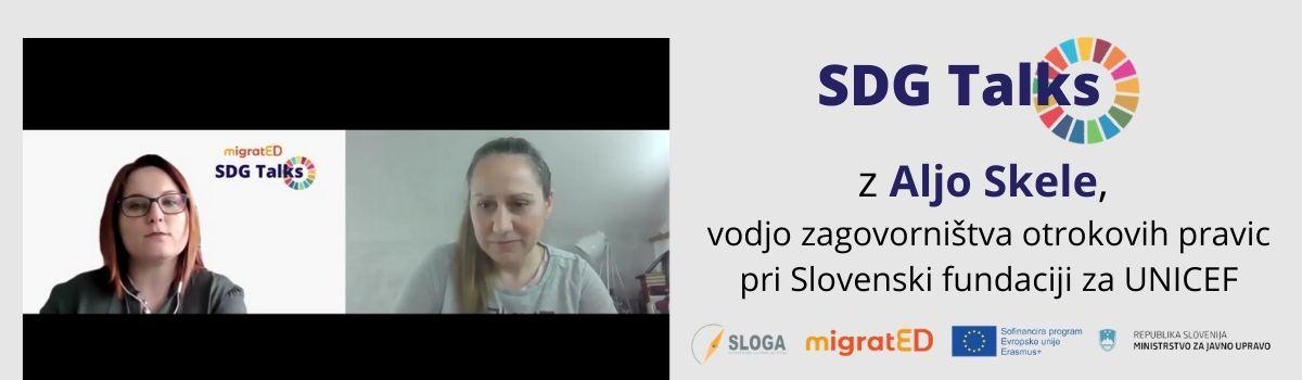 SDG Talks: Alja Skele, Slovenska fundacija za UNICEF