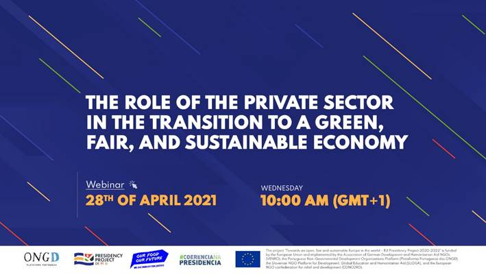 Vloga zasebnega sektorja pri prehodu v zeleno, pošteno in trajnostno gospodarstvo