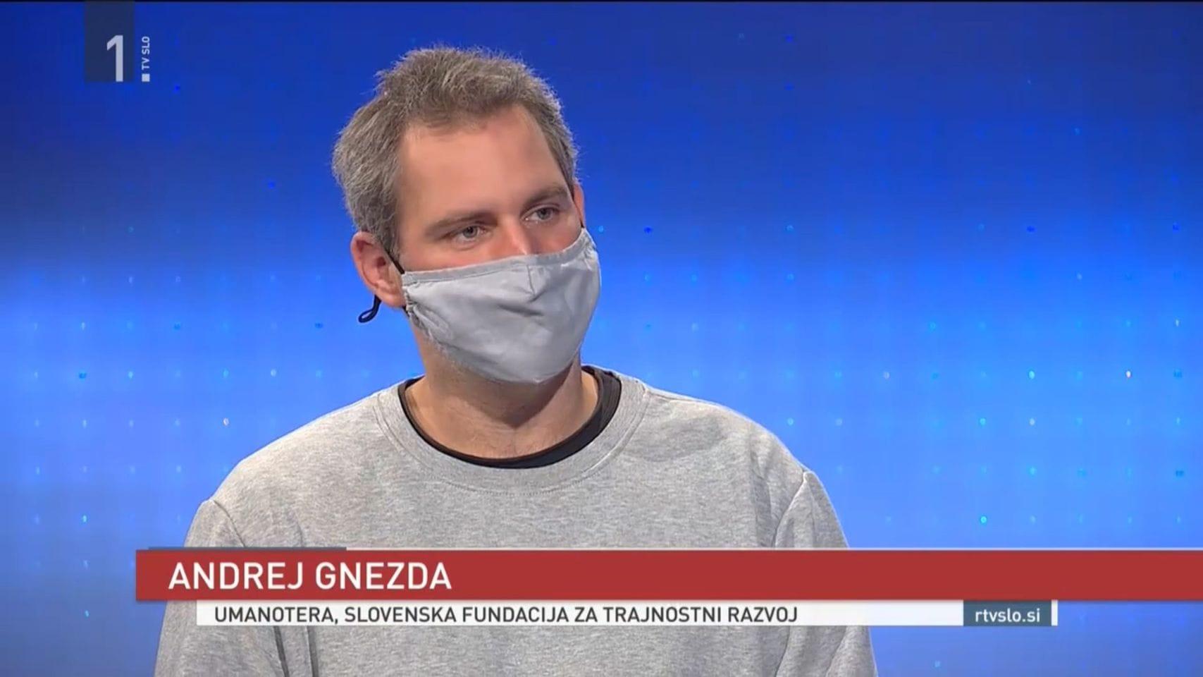 Andrej Gnezda na TVSLO. Vir: Facebook