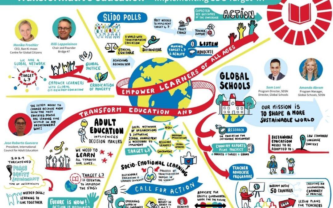 Transformativno izobraževanje je ključno za doseganje ciljev trajnostnega razvoja
