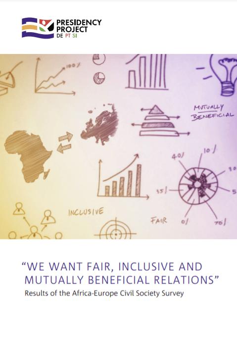 Naslovnica raziskave o afriški in evropski civilni družbi