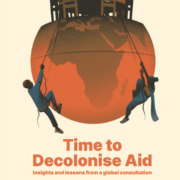 Naslovnica poročila Time do Decolonise Aid