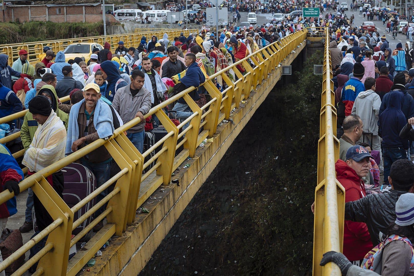 Venezuelski begunci leta 2018 na meji z Ekvadorjem. Foto ©UNICEF/ECU/Wikimedia Commons