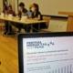 Dogodek o podnebnih spremembah in podnebnim migrantih. Vir: Platforma SLOGA